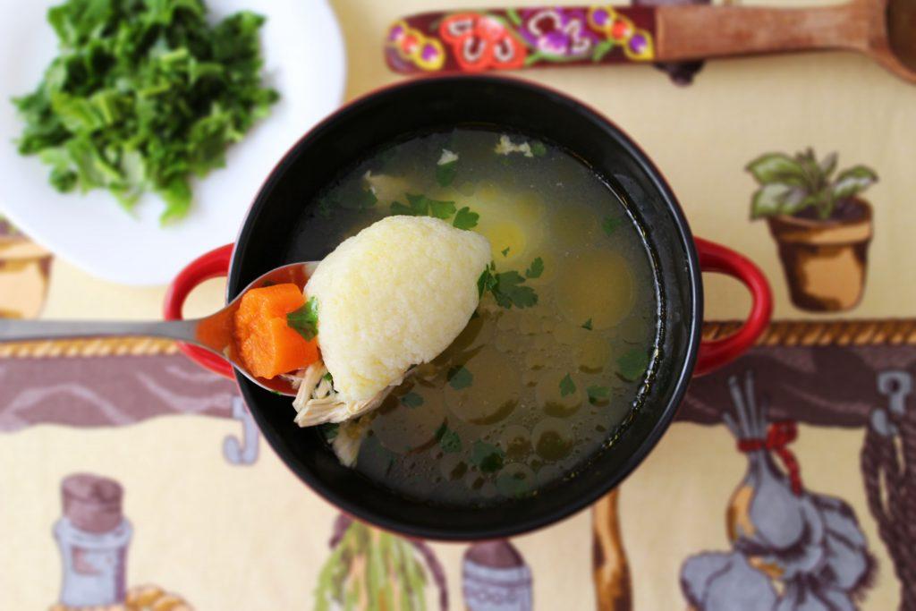 soup with dumpling