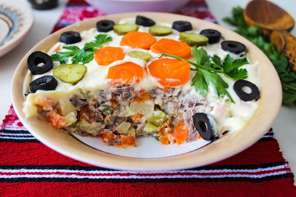 boeuf salad close