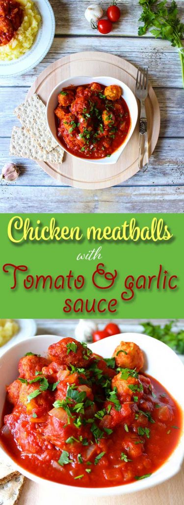 meatballs with tomato and garlic