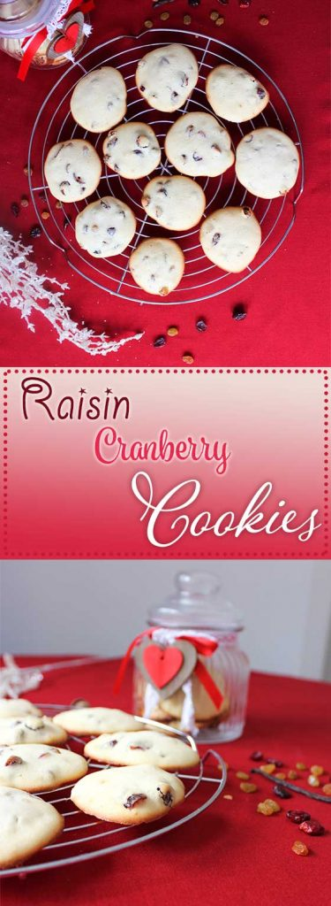 raisin cranberry cookies pin