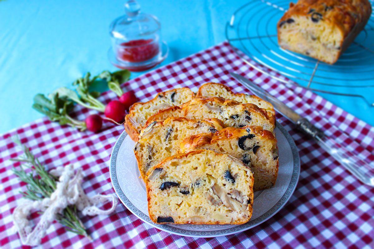 savory cake slices