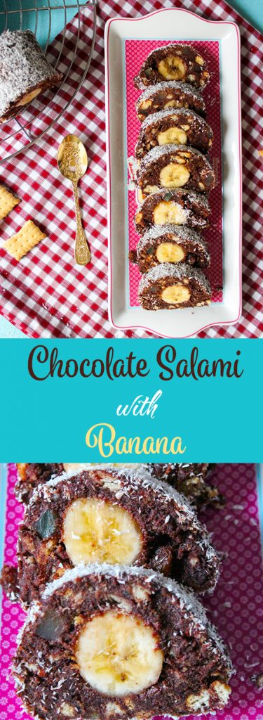 chocolate banana salami pinterest
