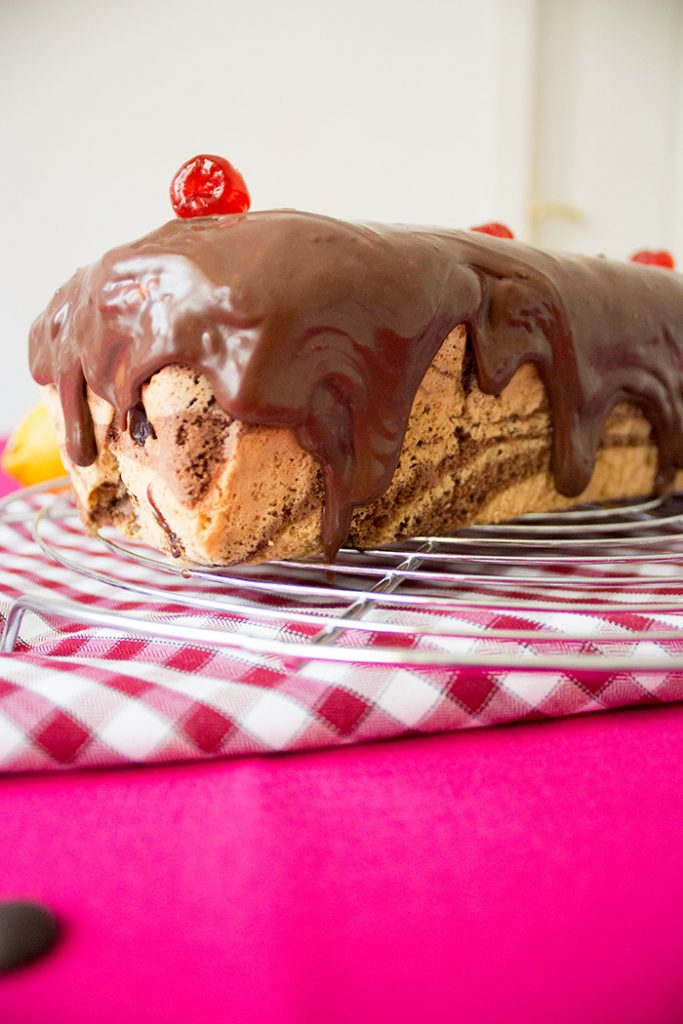 chocolate marble loaf cake