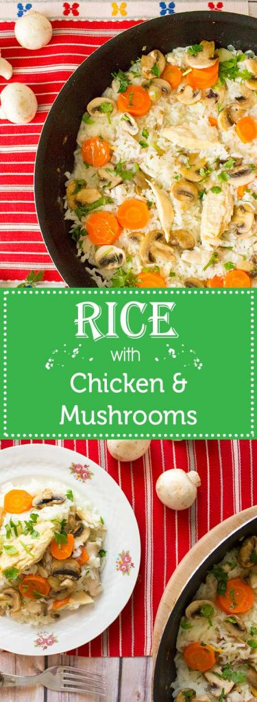 rice with chicken and mushrooms pin