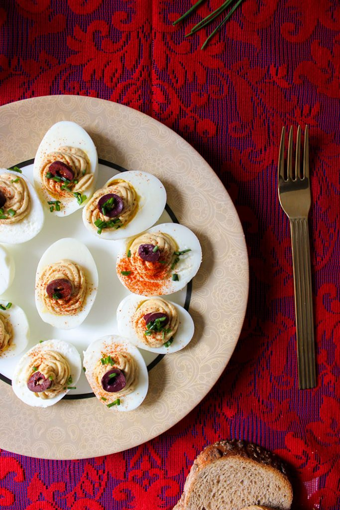 stuffed eggs platter