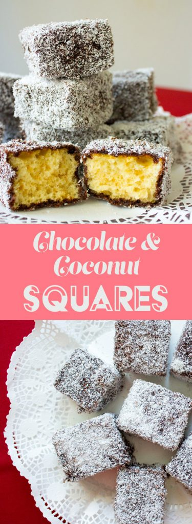 chocolate coconut squares lamingtons