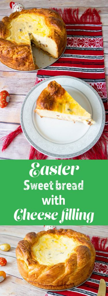 romanian easter sweet bread pin