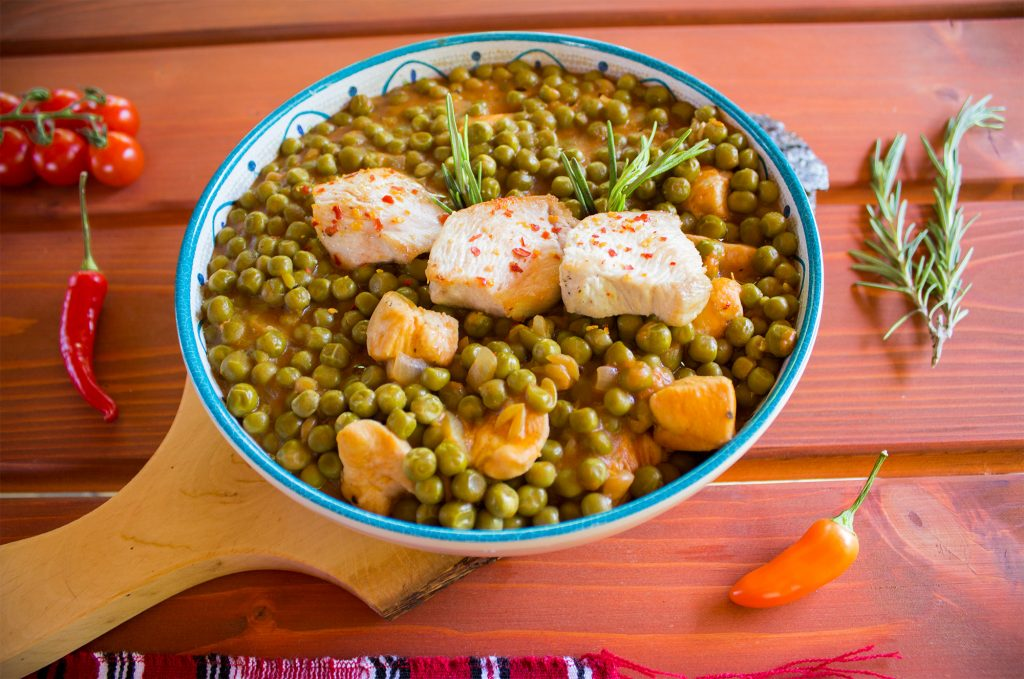 chicken pea stew bowl