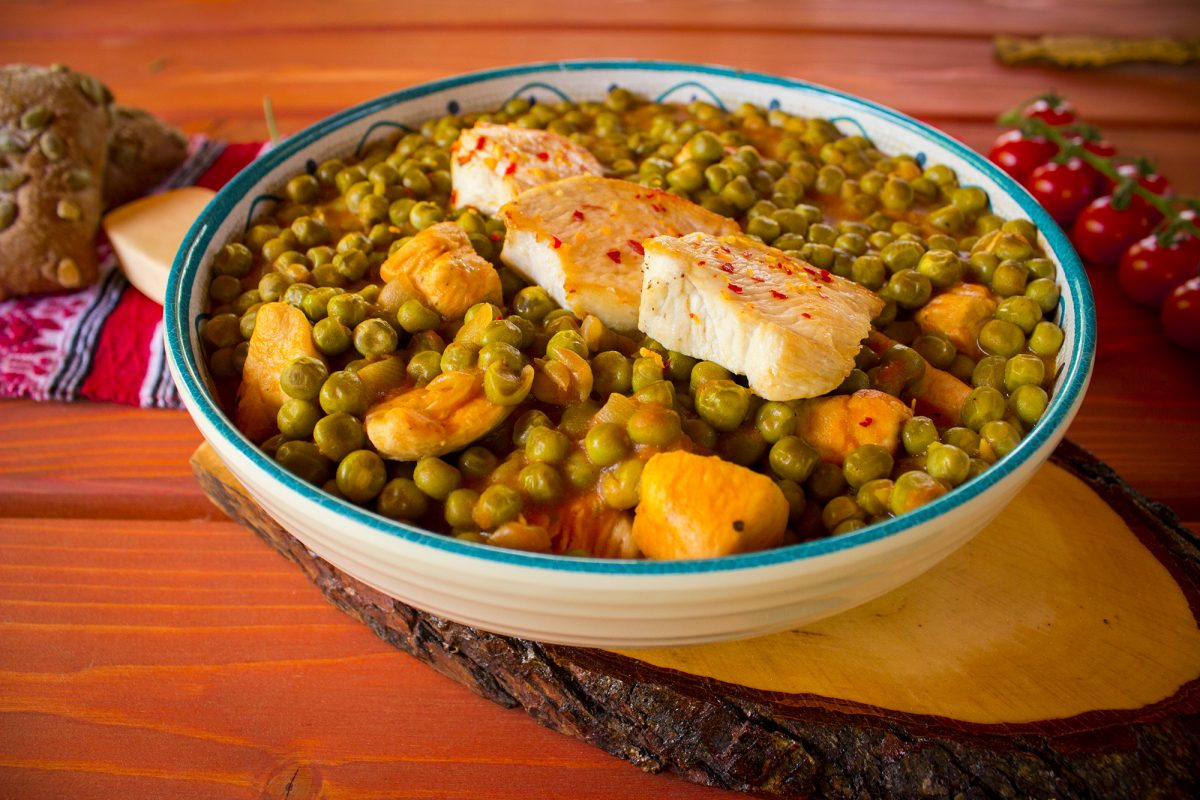 peas chicken stew