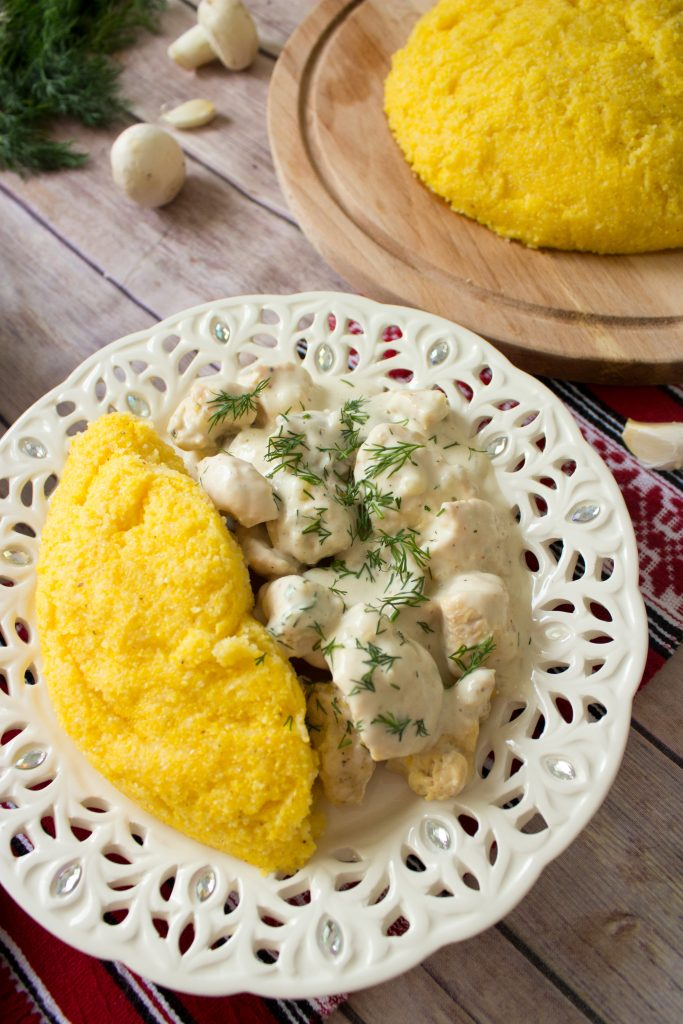 romanian chicken and polenta