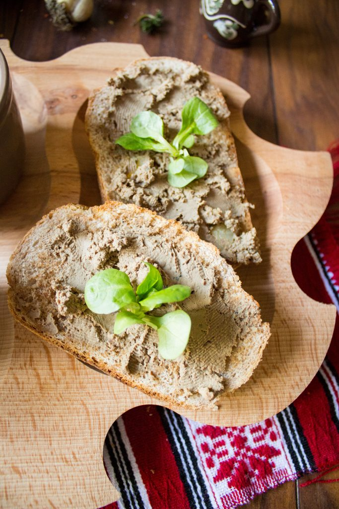 chicken liver pate on toast