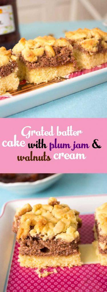 traditional romanian plum jam cake