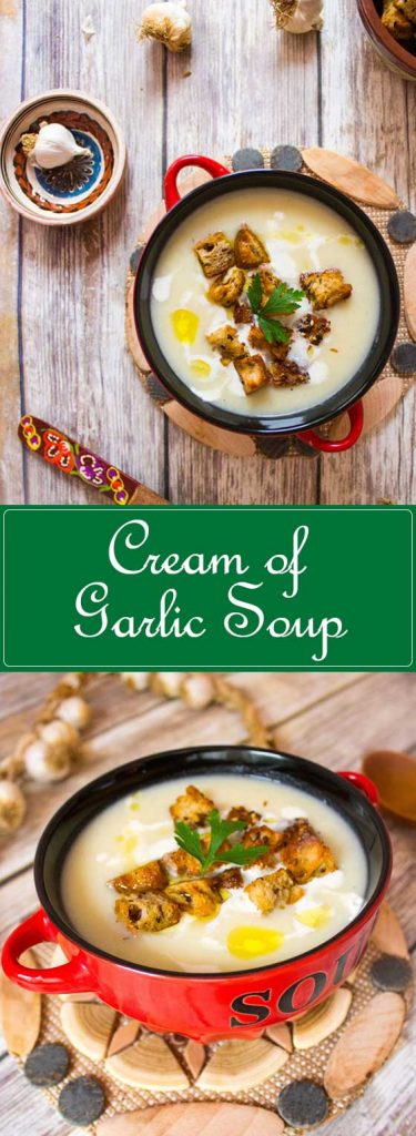 cream of garlic soup pin