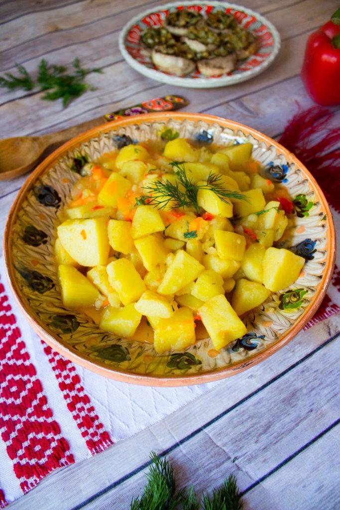 potato stew in bowl