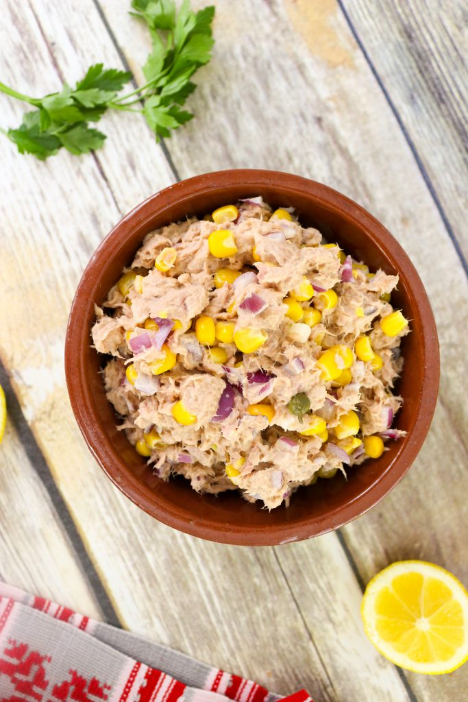tuna salad in bowl