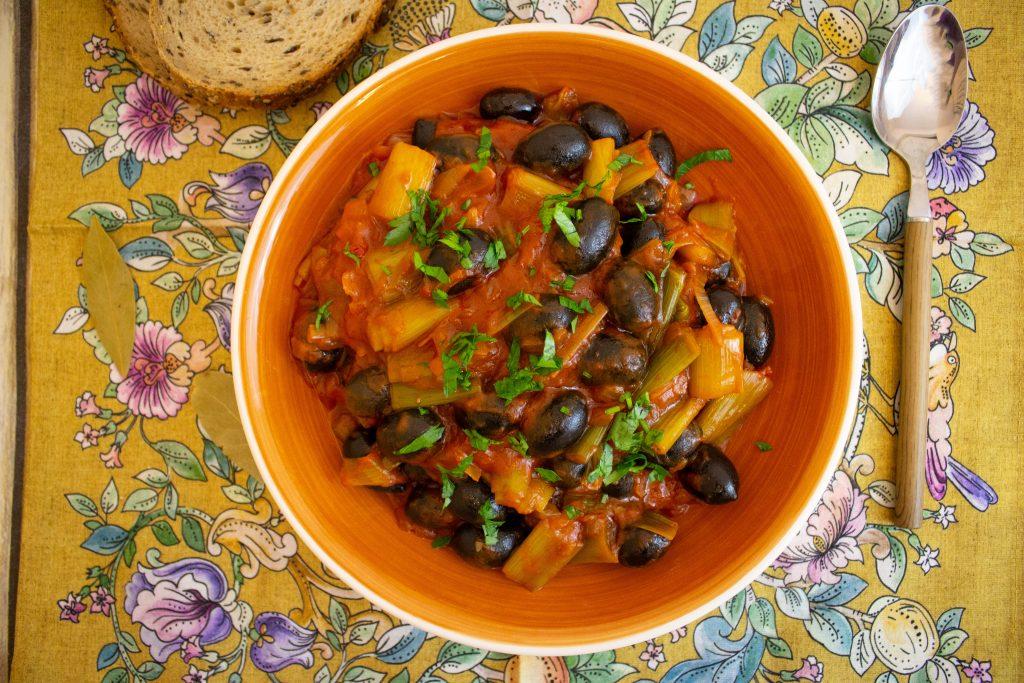 vegetarian leek stew