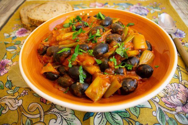 romanian leek stew