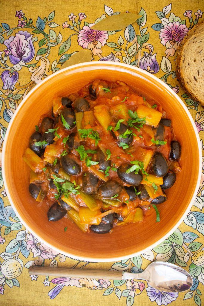 leek olive stew