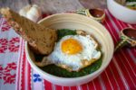 spinach bowl egg