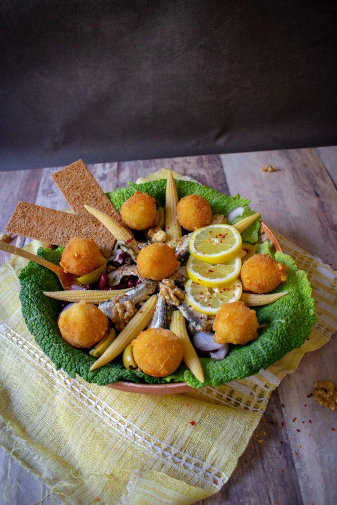 cheese sardines salad